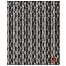 Officially Licensed NFL Two Tone Cable Knit Throw Blanket - Raiders