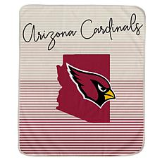 Officially Licensed NFL Ultra Fleece State Stripe Blanket - Cardinals