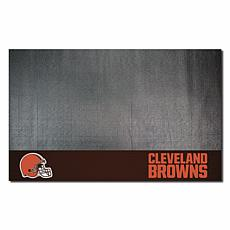 Officially Licensed NFL Vinyl Grill Mat  - Cleveland Browns