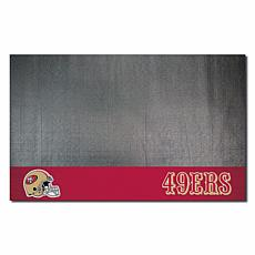 Officially Licensed NFL Vinyl Grill Mat  - San Francisco 49ers