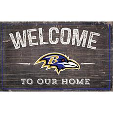 Officially Licensed NFL Welcome Sign - Baltimore Ravens