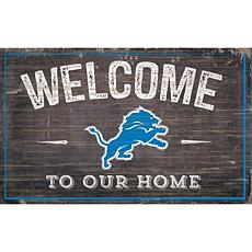 Officially Licensed NFL Welcome Sign - Detroit Lions