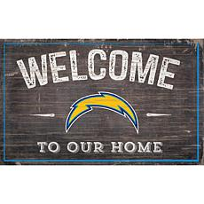 Officially Licensed NFL Welcome Sign - Los Angeles Chargers