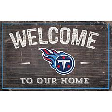 Officially Licensed NFL Welcome Sign - Tennessee Titans