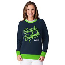 Officially Licensed NFL Women's Fleece Hail Mary Sweatshirt by Glll