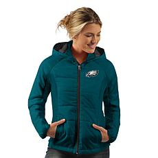 Officially Licensed NFL Women's Rundown Polyfill Hooded Jacket by Glll