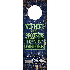 Officially Licensed NFL Wood Door Hanger
