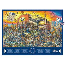 Officially Licensed NFL  Wooden Joe Journeyman Puzzle - Indianapolis