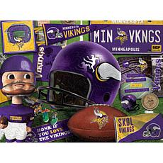 Officially Licensed NFL  Wooden Retro Series Puzzle-Minnesota Vikings