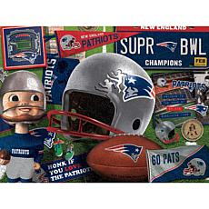 Officially Licensed NFL Wooden Retro Series Puzzle - New England