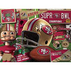 Officially Licensed NFL  Wooden Retro Series Puzzle - San Francisco