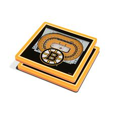 Officially Licensed NHL Boston Bruins 3-D StadiumViews 2-Pack Coasters