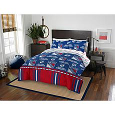 Officially Licensed NHL Queen Bed in a Bag Set - New York Rangers