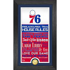 Officially Licensed Philadelphia 76ers House Rules Coin Photo Mint