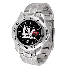 Officially Licensed Super Bowl LV Champs Steel Series Watch - Bucs
