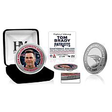Officially Licensed Tom Brady Farewell Color Silver Coin