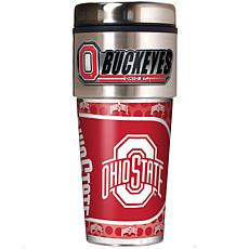 Ohio State Buckeyes Travel Tumbler w/ Metallic Graphics and Team Logo