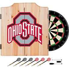 Ohio State University Dart Cabinet w/ Darts and Board