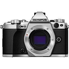 Olympus OM-D E-M5 Mark II Mirrorless Camera Kit - Silver w/ Black Lens