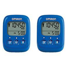 Omron Alvita Ultimate Pedometer 2-Pack Bundle (Blue)
