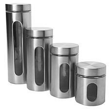 Oneida 4-Pc Palladian Window Cylinder Set in Stainless Steel