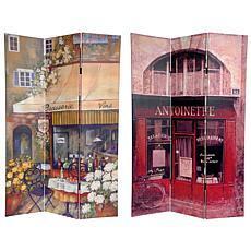 Oriental Furniture Brasserie Canvas Room Divider