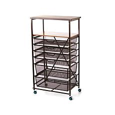 Origami Foldable 6-Drawer Craft Cart