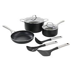 Oster Palladium 8-Piece Aluminum Cookware Set in Black