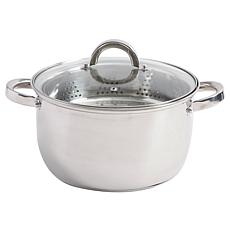 Oster Sangerfield 6 Quart Stainless Steel Casserole with Steamer In...
