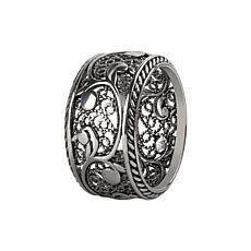 Ottoman Silver Filigree Eternal Design Band Ring