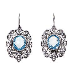 Ottoman Silver Jewelry 8.36ctw Sky Blue Topaz Earrings