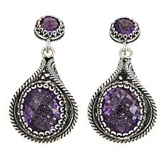 Ottoman Silver Jewelry 9.6ctw Amethyst Filigree Drop Earrings