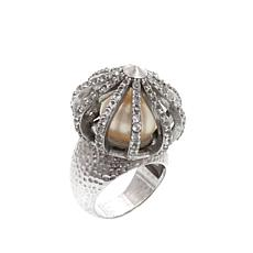 "Ottoman Silver Jewelry Freshwater Pearl ""Sultan"" Ring"
