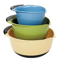 OXO Good Grips 3-Piece Blue/Green/Yellow Mixing Bowl Set