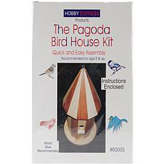 Pagoda Wood Bird House Kit - Unfinished