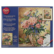 "Paint Works Paint By Number Kit 16"" x 20"" - Peony Floral"