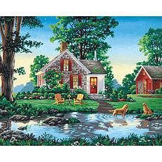 "Paint Works Paint By Number Kit 20"" x 16"" -Summer Cottage"