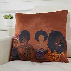 """Pardon My Fro Abara 18"""" x 18"""" Decorative Pillow"""