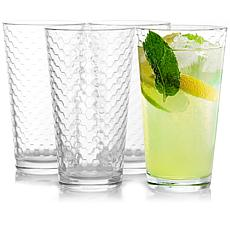 Pasabahce Horizon 4-Piece 16.75 oz Cooler Glass Tumbler Cup Set in ...