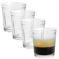 Pasabahce Optica 4 Piece 13 Ounce Double Old Fashioned Set in Clear...