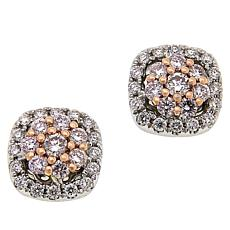 Passport to Gems 14K .50ctw Pink and White Diamond Stud Earrings