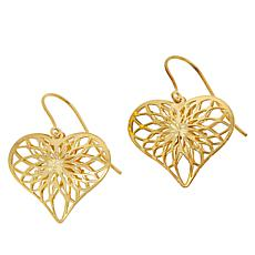 Passport to Gems 14K Heart Drop Earrings