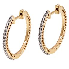 Passport to Gems 14K Yellow Gold .51ctw Diamond Hoop Earrings