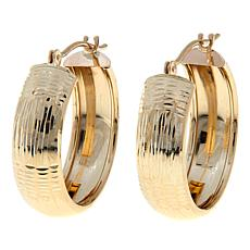 Passport to Gold 14K Diamond-Cut Huggie Hoop Earrings
