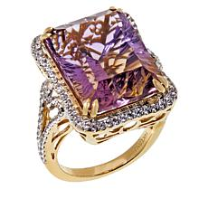 Passport to Gold 14K Gems Ametrine and Zircon Ring