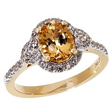Passport to Gold 14K Gems Imperial Topaz and Zircon Ring