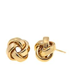 Pport To Gold 14k Love Knot Stud Earrings
