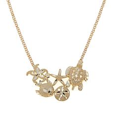 "Passport to Gold 14K Nautical 17"" Necklace"