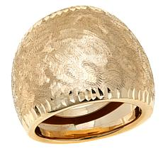 Passport to Gold 14K Yellow Gold Brushed Wide Band Ring