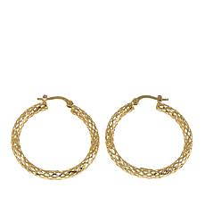 "Passport to Gold 14K Yellow Gold Diamond-Cut 7/8"" Hoop Earrings"